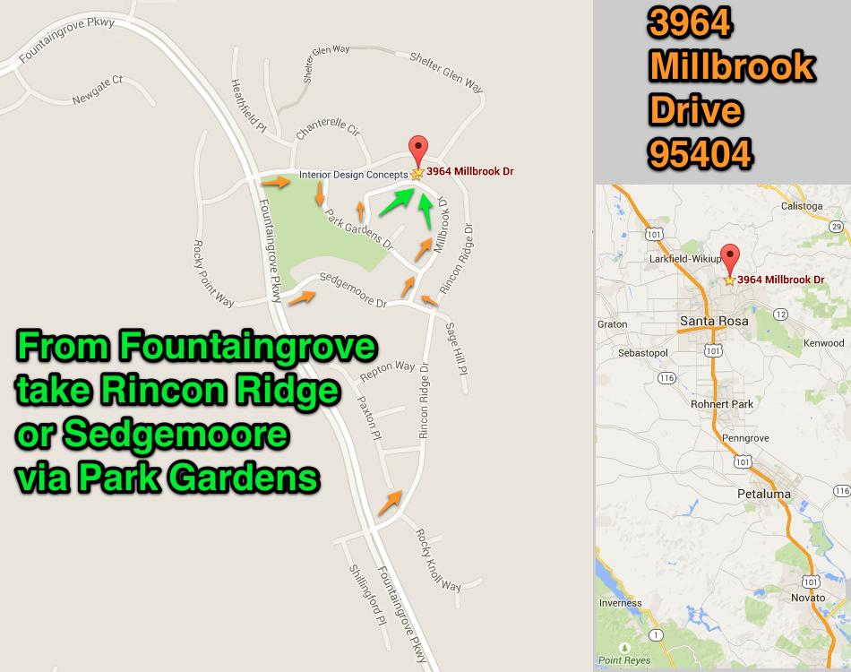 Millbrook Estate Sale MAP